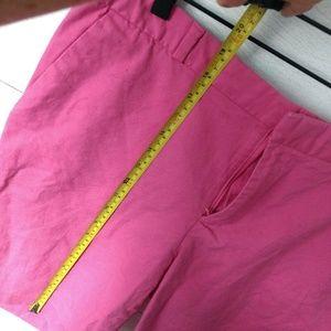 Banana Republic Shorts - Banana Republic Pink Flat Front Cotton Shorts 12